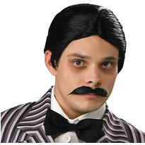 Gomez Addams Wig and Mustache