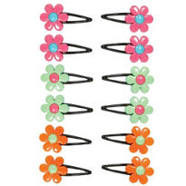 Hippie Chick Flower Barrettes 12ct
