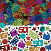 Dots & Stripes 50th Birthday Confetti 2.5oz
