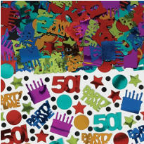 Dots & Stripes 50th Birthday Confetti 2.5oz