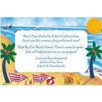 Beach Postcard Custom Invitation