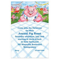 Pig Picnic Custom Invitation