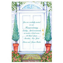 Front Door Custom Housewarming Invitation