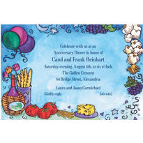 Italian Dinner Party Custom Invitations