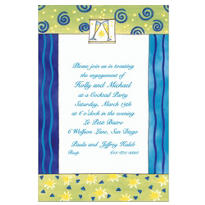 Champagne Flutes Custom Invitation