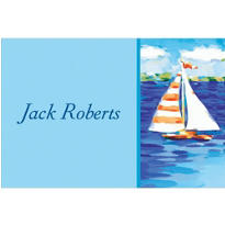 Sailboats on the Water Custom Thank You Note