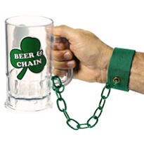 St. Patricks Day Beer & Chain Wristband 9 1/2in 20oz