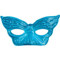 Turquoise Butterfly Masquerade Mask
