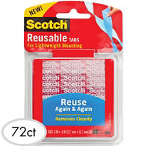 3M Reusable Tabs 72ct