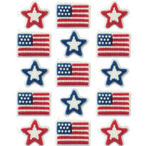 Star and Flag Icing Decorations 15ct