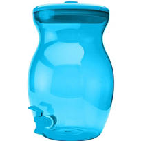 Blue Plastic Beverage Dispenser