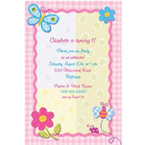 Hugs & Stitches Girl Custom Invitation