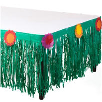 Fiesta Tissue Tableskirt 10ft x 25in