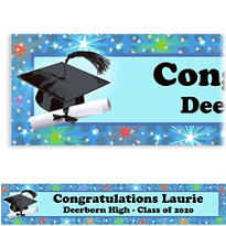 Dazzling Grad Custom Graduation Banner 6ft