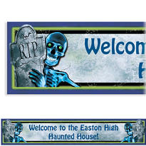 Creepy Bones Halloween Custom Banner