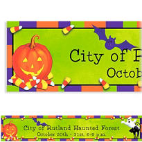 Scary Fun Halloween Custom Banner
