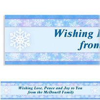 Snowy Breeze Custom Christmas Banner