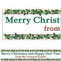 Holiday Treasures Custom Christmas Banner