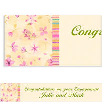 Watercolor Garden Custom Banner 6ft