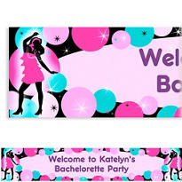 Girl's Night Out Custom Bachelorette Party Banner 6ft