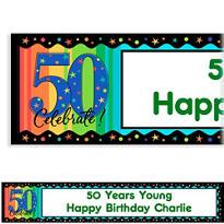 A Year to Celebrate 50 Custom Birthday Banner