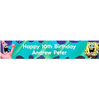 SpongeBob Classic Custom Birthday Banner