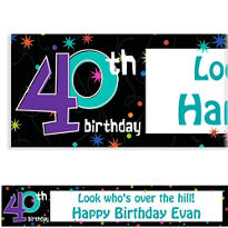 The Party Continues 40th Birthday Custom Banner 6ft