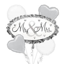 Foil I Do Wedding Balloon Bouquet 5pc