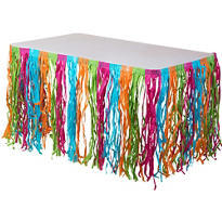 Multicolor Grass Table Skirt 9ft