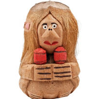 Coconut Maraca Woman Decoration