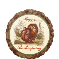 Foil Thanksgiving Sophistication Balloon 18in