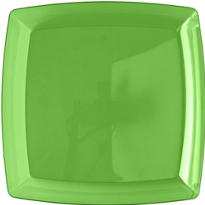 Green Square Tray 12in