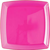 Pink Square Plastic Tray 12in