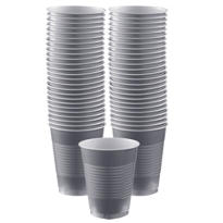 Silver Plastic Cups 16oz 50ct