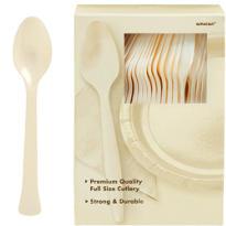 Vanilla Premium Plastic Spoons 100ct