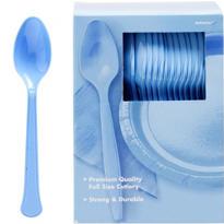 Pastel Blue Premium Plastic Spoons 100ct