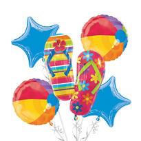 Foil Flip Flop Balloon Bouquet 5pc