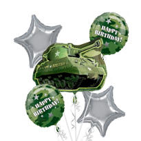 Camouflage Balloon Bouquet 5pc