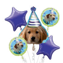 Party Pups Balloon Bouquet 5pc