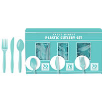 Robin's Egg Blue Cutlery Set 210pc