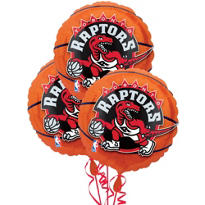 Toronto Raptors Balloons 18in 3ct