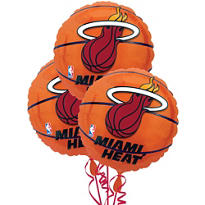 Miami Heat Balloons 18in 3ct