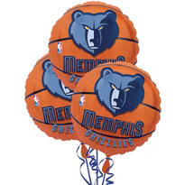 Memphis Grizzlies Balloons 18in 3ct