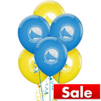 Golden State Warriors Latex Balloon 12in 6ct