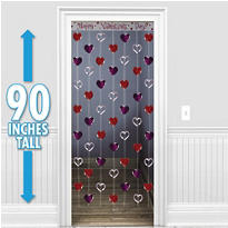 Valentines Day Heart Door Curtain 7 1/2ft