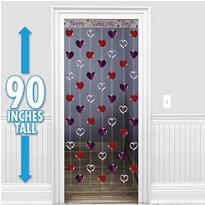Valentines Day Heart Door Curtain
