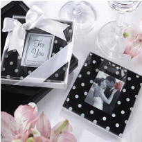 Polka Dot Photo Coaster 2ct