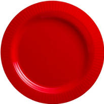 Red Premium Plastic Dinner Plates 16ct