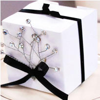 White Diamond Pick Wedding Favor Accessory