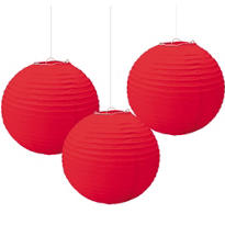 Red Paper Lanterns 3ct